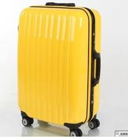 Abs aluminum frame box travel bag trolley luggage tsa lock interlayer zipper pocket 24 general