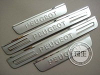 Free Shipping Peugeot 307 High quality stainless steel Scuff Plate/Door Sill