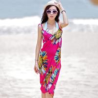 Swimwear all-match bikinis25 beach towel ultralarge belt mantillas skirt beach dress
