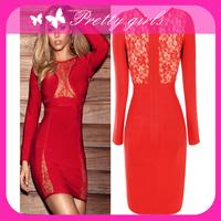 2013 fashion bandage dress,red boatneck bandage dress,cheap price bandage dress