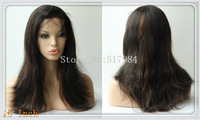 """120% Density!UPS Free! Brazilian Human Hair Glueless Full Lace Wigs 1B/30# color 12""""16"""" Natural Straight Brown Lace A34"""