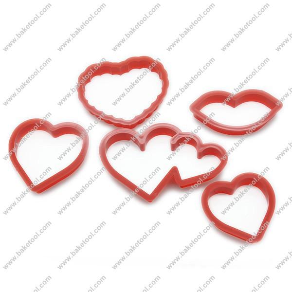Dia dos namorados grátis frete decoração do bolo / forma do coração do bolinho ferramentas de corte / Cookie atacado e varejo(China (Mainland))