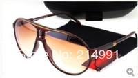 Brown hot selling MEN women sunglasses tea color