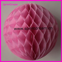 Wholesale - Free shipping 10pcs 38cmTissue Paper Flower ball/ Honeycomb Lantern Wedding Party festival deco