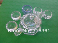 Mini tea/coffee cup whisky flower tea cup coffee cups with 5pcs/set crystal free shipping