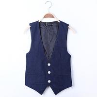 14 men's clothing summer male casual denim vest sleeveless denim fashion vest outerwear male