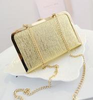 2014 chain box bag clip evening bag one shoulder women's handbag r161  women messenger bag