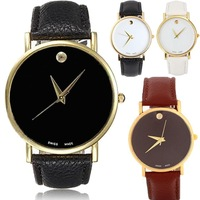 1PCS Vintage Golden Women Ladies Luxury Simple Fine Dial Analog Quartz Wrist Watch