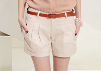2014 Spring Summer fashion New Women's Slim wild casual fashion solid color shorts female Short pants Without belt T12-10