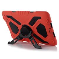 Heavy duty shockproof life dirt proof nuud slim armor silicone rugged kickstand case For iPad mini ipad mini 2 with retail box