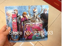 Hot sale! Free Shipping 1pcs/lot   frozen wallet+watch sets , Children Watch with wallet,birthday gift for children