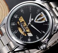 New 2014 Men military lfull steel  brand Automaticself-wind relogios wristwatch mechanical hand wind sport luxury watch for man