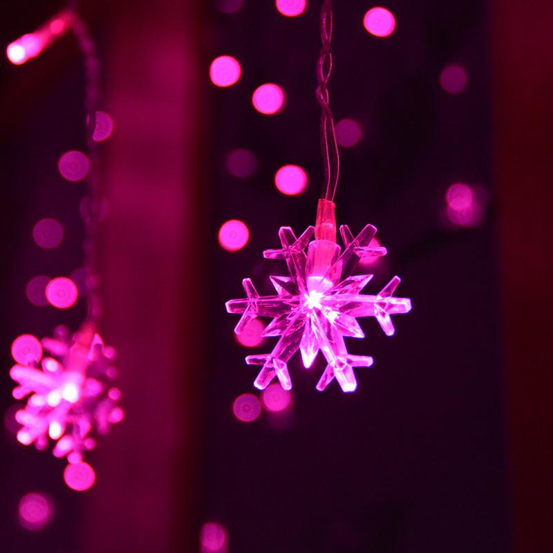 Led light snow lantern wedding supplies decoration curtain background light(China (Mainland))