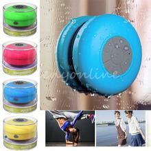 1pcs Bluetooth Speaker Shower Portable Waterproof Wireless Car Handsfree Receive Call & Music Suction Phone Mic(China (Mainland))