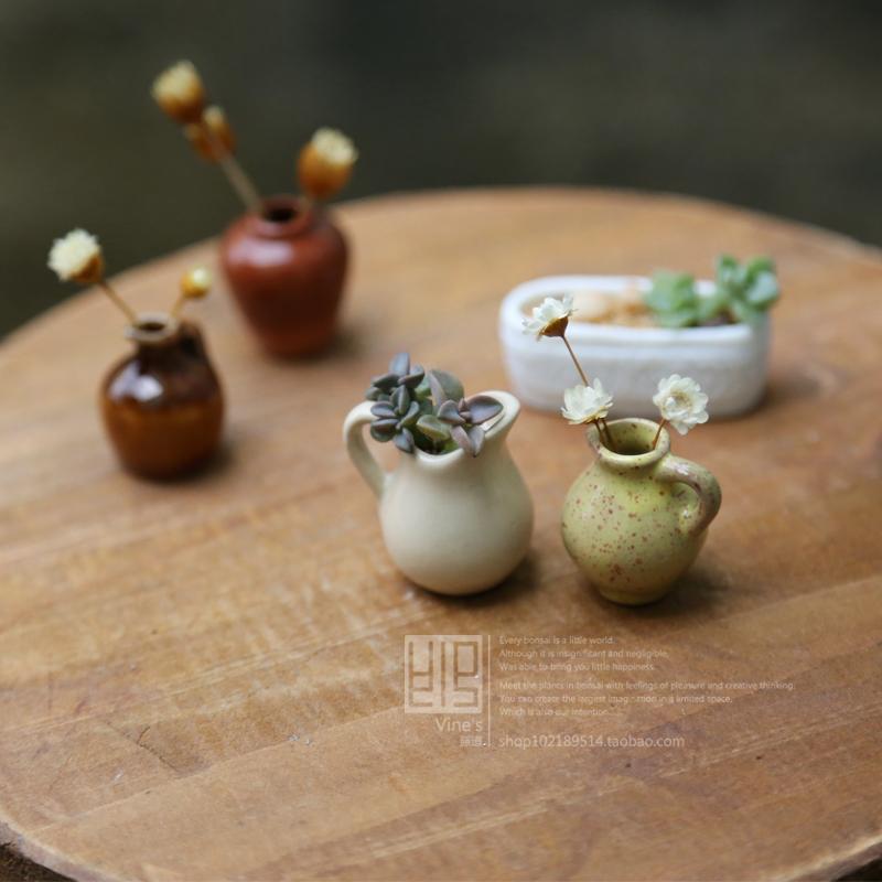 Free shipping!super mini ceramic flower pot Thumb super mini pocket-size meat ceramic flower pot meat flower pot plant bonsai(China (Mainland))