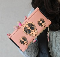 W15 Hot 2014 Quality Genuine PU Leather Wallet Women Wallet Clutch Long Design Clip Wallet Wallets Coin Purse Bag 6 Color