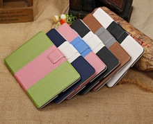 Fashion Ball grain Leather Card Slot smart Case with belt buckle design Stand Cover For Google Nexus 7 II free shipping(China (Mainland))