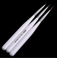 kolinsky Acrylic nail art brush stroke for manicure painting 9pcs/lot(3pcs/bag) export nail brush free shipping