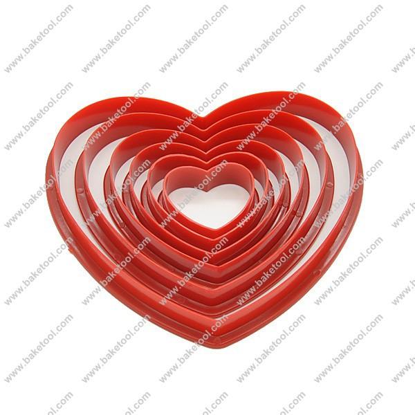 Grátis frete forma do coração decoração de bolos / Cookie ferramentas de corte / Cookie / bolo selos(China (Mainland))