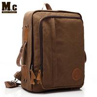 New backpack men leisure Korean design schoolbags men's travel bag canvas backpack
