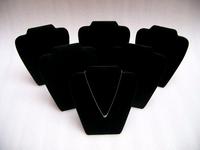 "6Pcs X Necklace Display Props 8"" High Medium Pendant Stand Holder wooden Showcase Easel in black velvet"