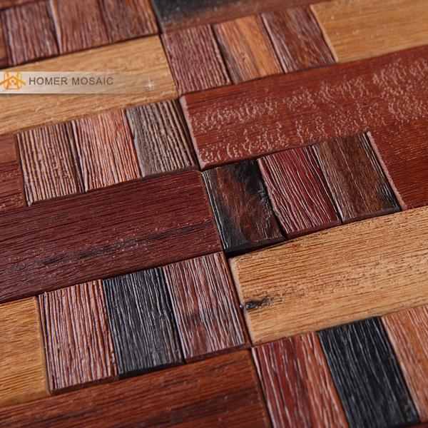 Estilo r stico natural de madera antigua mosaico del - Mosaico de madera ...