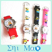 Cartoon Despicable Me Child Girls Kids Steel Wrist Watch 10 Colors Analog fashion watches wristwatch Free Shipping & Drop shop