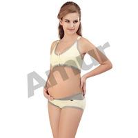 Women's Elastic Underwear Suit Pregnant Maternity Nursing Breastfeeding Bras+Comfy Low-waist Panties