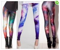 [JFYB]Hot Sale2014Black Milk Galaxy Legging Pants Women Sexy Floral Leggings Star Wars Laides Footless High Waist Female Leggins
