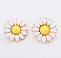 Lovely Sunflower Stud Earrings Sweet Daisy Earrings Fashion Statement Earrings cxt904438