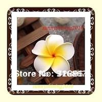 100X white  Plumeria flower Hawaiian Foam Frangipani Flower wedding party decor 4.8cm
