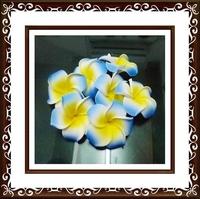 free shipping100X blue  Plumeria flowers Hawaiian Foam Frangipani Flowers wedding party decor 4.8cm