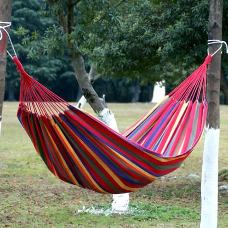 Double hammock canvas hammock outdoor hammock lashing 2(China (Mainland))