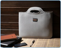 """Free Shipping  OFFICE LADY double layer 12""""  laptop sleeve bag three colors men and women laptop bag  #69551"""