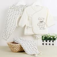 Newborn baby 100% cotton leopard print underwear piece set monk clothes newborn cotton a-34