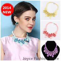 Min Order $10,New fashion necklaces for women Statement Necklaces 2014,Sweet Luxury Rhinestone Bead chunky necklaces,N15
