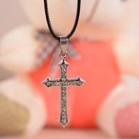 Free Shipping 12 pcs/lot cross necklace fashion titanium male brief Men necklaces pendants P1434
