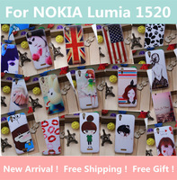 New 2014 items Cartoon Case For NOKIA Lumia 1520 Mobile Phone Case Protective Case Cell Phone Case Free Shipping! +Gift.