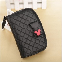 Free shipping 2014 multifunction women wallets Coin purse ladies long design clutch bag mickey mouse wallet