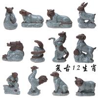 Zodiac tea pet 12 zodiac cartoon crafts decoration yiwu commodity home