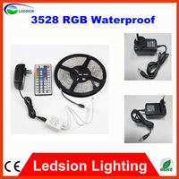 3528 LED Strip Waterproof IP65 12V 60LEDs/m+24W EU/AU/US 2A Adapter Power Supply ,only RGB and Changeable Of 44 Keys Controller