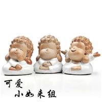 Small tea pet cartoon buddha tea pliableness