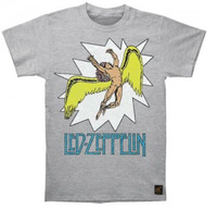2014 LED ZEPPELIN Vintage Comic Book Explosion Logo With Swan Song Icarus Men's T-Shirt 100% cotton  Accept group/b/mix order