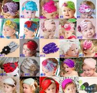 5pcs/lot Wholesale Beautiful Feather Headband hairband Baby Girls headbands Head hair bands children Christmas gift ej300015