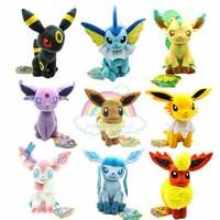 3 PCS/Lot  Pokemon Plush Very Cute Soft Stuffed Toys Figures OD0030