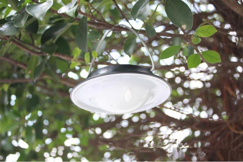 solar led lights portable camping lamp for outside garden tree