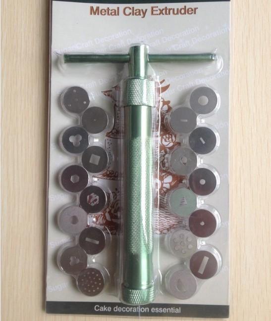 Livraison gratuite 20 disques sugarcraft outil de sucre pâte fimo argile extrudeuse pour artisanal. pistolet. gâteau décoration sculpture-- a211