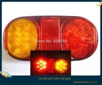 Hot ! new 1pcs dc12v 3w truck car tail trailer reverse back up led lights turn signal lamp tail trailer lights