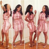 european style plus size 2014 women dresses 2 piece bandage dress two piece bodycon sexy dress club wear  TY035