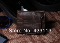 Stylish Men's Leather Wallet Pocket Card  Bifold Purse New cowhide wallet